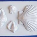 Tengeri-14 - gipszöntő forma (4 motívum) - kagylók, Szerszámok, eszközök, Egyéb szerszám, eszköz, Gipszöntés,           Tengeri-14 - gipszöntő forma - kagylók, csigák  - sablon: 16x24 cm- minta: 4-12 cm Az ár ..., Alkotók boltja