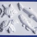 Tengeri-16 - gipszöntő forma (4 motívum) - delfinek + teknősök, Szerszámok, eszközök, Egyéb szerszám, eszköz, Gipszöntés,            Tengeri-16 - gipszöntő forma - delfinek + teknősök  - sablon: 15x20 cm- minta: 7-12 cm A..., Alkotók boltja