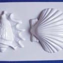 Tengeri-18 - gipszöntő forma (2 motívum) - nagy kagylók, Szerszámok, eszközök, Egyéb szerszám, eszköz, Gipszöntés,            Tengeri-18 - gipszöntő forma - nagy kagylók  - sablon: 16x24 cm- minta: 11-12 cm Az ár e..., Alkotók boltja