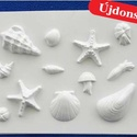 Tengeri-20 - gipszöntő forma (12 motívum) - tengeri élőlények, Szerszámok, eszközök, Egyéb szerszám, eszköz, Gipszöntés,            Tengeri-20 - gipszöntő forma - tengeri élőlények  - sablon: 28x21 cm- minta: 3-9 cm Az á..., Alkotók boltja