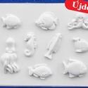 Tengeri-21 - gipszöntő forma (9 motívum) - tengeri állatok, Szerszámok, eszközök, Egyéb szerszám, eszköz, Gipszöntés,            Tengeri-21 - gipszöntő forma - tengeri állatok  - sablon: 28x21 cm- minta: 4-12 cm Az ár..., Alkotók boltja