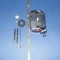 Ingás óraszerkezet (8. minta/1 db) - UTS (német), Órakészítés, Szerkezetek, mutatók, Mindenmás,  Ingás quarz óraszerkezet (8. minta) - UTS 16,2  Teljes tengelyhossz: 16,2 mm Befogható max. anyagv..., Alkotók boltja