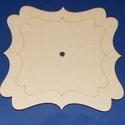Fa óralap (20x20 cm/1 db) - szögletes/hullámos, Órakészítés, Óralapok, Mindenmás,  Fa óralap - szögletes/hullámos- díszes - állvánnyal - számokkal (3, 6, 9, 12)  Mérete: 20x20 cmAny..., Alkotók boltja
