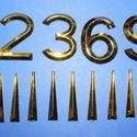 Arab számsor (109. minta/arany) - 30 mm, Órakészítés, Számok, betűk, Mindenmás,  Számsor (109. minta) - arany - arab számokkal    Az időpont jelzése 12, 3, 6, 9 számokkal, az eg..., Alkotók boltja