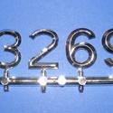 Arab számsor (113. minta/ezüst) - 30 mm, Órakészítés, Számok, betűk, Mindenmás,   Számsor (113. minta) - ezüst - arab számokkal    Az időpont jelzése 12, 3, 6, 9 számokkal, az e..., Alkotók boltja