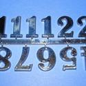 Arab számsor (116. minta/antik ezüst) - 25 mm, Órakészítés, Számok, betűk, Mindenmás,   Számsor (116. minta) - antik ezüst - arab számokkal    Mérete: 25 mm    A számsort ragasztóva..., Alkotók boltja
