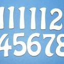 Fa számsor (45 mm/1 készlet) - arab számok, Órakészítés, Számok, betűk, Mindenmás,  Fa számsor - arab számok     Mérete: 45 mmAnyaga: natúr rétegelt lemez, nem pácolt, nem kezeltAnya..., Alkotók boltja