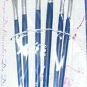 Ecset készlet (kék nyél/6 db-os) - lapos fejű, Szerszámok, eszközök, Mindenmás,  Ecset készlet - kék fanyéllel - lapos fejű  Mérete: 1, 2, 3, 4, 5, 6   Az ár egy készletre vonatko..., Alkotók boltja