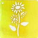 Embossing domborító sablon (6,5x6,5 cm/1 db) - virág, Szerszámok, eszközök,    Embossing domborító sablon - virág  Sablon mérete: 6,5x6,5 cm Embossing technika: Az  eljár..., Alkotók boltja