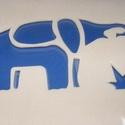 Sablon (15x12 cm/1 db) - elefánt, Szerszámok, eszközök,  Sablon - elefánt  Rugalmas, műanyag sablon festékhez és struktúrpasztához.Közvetlenül a has..., Alkotók boltja