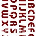 Sablon - S21 (14,5x20 cm/1 db) - nyomtatott nagybetűk, Szerszámok, eszközök,  Sablon - S21 - nyomtatott nagybetűk    Rugalmas, műanyag sablon festékhez és struktúrpasztá..., Alkotók boltja