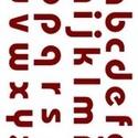 Sablon - S22 (14,5x20 cm/1 db) - nyomtatott kisbetűk, Szerszámok, eszközök,  Sablon - S22 - nyomtatott kisbetűk    Rugalmas, műanyag sablon festékhez és struktúrpasztáh..., Alkotók boltja