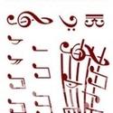 """Sablon - S30 (14,5x20 cm/1 db) - """"love music"""", Szerszámok, eszközök,  Sablon - S30 - """"love music""""     Rugalmas, műanyag sablon festékhez és struktúrpasztáho..., Alkotók boltja"""
