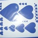 Sablon-1 (20,5x25 cm/1 db) - nagy szívek, Szerszámok, eszközök, Mindenmás,  Sablon-1 - nagy szívek  Rugalmas, műanyag sablon festékhez és struktúrpasztához.Közvetlenül a hasz..., Alkotók boltja