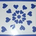 Sablon-2 (20,5x25 cm/1 db) - kis szívek, Szerszámok, eszközök, Mindenmás,  Sablon-2 - kis szívek  Rugalmas, műanyag sablon festékhez és struktúrpasztához.Közvetlenül a haszn..., Alkotók boltja