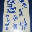 Sablon-22 (29x20 cm/1 db) - levelek, Szerszámok, eszközök,  Sablon-22 - levelek (többféle)  Rugalmas, műanyag sablon festékhez és struktúrpasztához.Köz..., Alkotók boltja