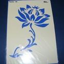Sablon-26 (29x20 cm/1 db) - virág, Szerszámok, eszközök,  Sablon-26 - virág  Rugalmas, műanyag sablon festékhez és struktúrpasztához.Közvetlenül a ha..., Alkotók boltja