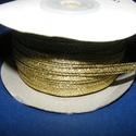 Lapos metál szalag (1 m) - matt arany, Textil,  Lapos metál szalag - arany színben - matt  Rendkívül dekoratív, fényes szalagSzélessége: 2,..., Alkotók boltja