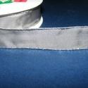 Szalag (1. minta/1 m) - szürke/ezüst lurex, Textil,  Taft szalag (1. minta) - szürke - ezüst lurex szegéllyel - dróttal  A taft tekercs sűrű, fén..., Alkotók boltja