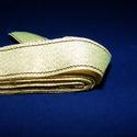 Szalag (131. minta/1 m) - arany, Textil,  Taftszalag (131. minta) - arany - aryn csíkkal  A taft tekercs sűrű, fényes, vászonkötésű, ..., Alkotók boltja