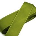 Szalag (24. minta/1 m) - olivazöld, Textil,  Taft szalag (24. minta) - olivazöld  A taft tekercs sűrű, fényes, vászonkötésű, selyem típ..., Alkotók boltja