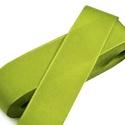 Szalag (25. minta/1 m) - limezöld, Textil,  Taft szalag (25. minta) - limezöld - dróttal  A taft tekercs sűrű, fényes, vászonkötésű, s..., Alkotók boltja