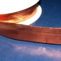 Szalag (38. minta/1 m) - metál bronz, Textil,  Dekorszalag (38. minta) - metál bronz - dróttal  Jó tartású csomagolóanyag kiváló minőség..., Alkotók boltja