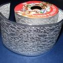 Szalag (43. minta/250 cm) - ezüst törtmintás, Textil,  Taft szalag (43. minta) - ezüst - törtmintás - dróttal   A taft tekercs sűrű, fényes, vászo..., Alkotók boltja
