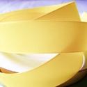 Szalag (9. minta/1 m) - sárga, Textil,  Taft szalag (9. minta) - sárga - dróttal  A taft tekercs sűrű, fényes, vászonkötésű, selye..., Alkotók boltja