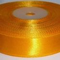 Szaténszalag (12. minta/1 m) - napraforgósárga, Textil,  Szaténszalag (12. minta) - napraforgósárga  Mérete: 2,5 cm  Az ár 1 méter szalagra vonatkozik..., Alkotók boltja