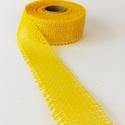 Jutaszalag (1 m) - citromsárga, Textil,  Jutaszalag - citromsárga  Nagyon szép dekorációs szalag hobbimunkákhoz.      A szalag szé..., Alkotók boltja