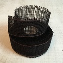 Jutaszalag (1 m) - fekete, Textil,    Jutaszalag - fekete  Nagyon szép dekorációs szalag hobbimunkákhoz.      A szalag széles..., Alkotók boltja