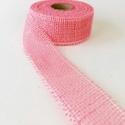 Jutaszalag (1 m) - rózsaszín, Textil,   Jutaszalag - rózsaszín  Nagyon szép dekorációs szalag hobbimunkákhoz.      A szalag szé..., Alkotók boltja