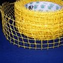 Kockás jutaszalag (1 m) - csillámos citromsárga, Textil,  Kockás jutaszalag - citromsárga - csillogós  Nagyon szép dekorációs szalag hobbimunkákhoz. ..., Alkotók boltja