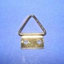 Képakasztó (2. minta/1 db) - 17x13 mm, Csat, karika, zár, Mindenmás,  Képakasztó (2. minta) - arany  Mérete: 17x13 mm (teljes hossz az akasztó résszel)A rögzítő lap mér..., Alkotók boltja