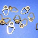 Képakasztó (5. minta/1 db) - 20x13 mm, Csat, karika, zár, Mindenmás,   Képakasztó (5. minta) - arany  Mérete: 20x13 mm (teljes hossz az akasztó résszel)  Az ár egy dara..., Alkotók boltja