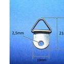 Képakasztó (6. minta/1 db) - 21x12 mm, Csat, karika, zár, Mindenmás,   Képakasztó (6. minta) - bronz   Mérete: 21x12 mmFurat: 2,8 mm  Az ár egy darab termékre vonatkozi..., Alkotók boltja