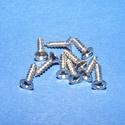 Csavar-1 (10x2,5 mm/10 db) - ezüst, Csat, karika, zár, Mindenmás,  Csavar-1 - ezüst színű  Mérete: 10x2,5 mmFejátmérő: 4 mm  A csomag tartalma 10 db csavar Az ár egy..., Alkotók boltja
