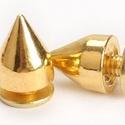 Fém szegecs (4/B minta/1 db) - kúp, Csat, karika, zár, Mindenmás,  Fém szegecs (4/B minta) - kúp - arany színben  Mérete: 10x7 mm  Az ár egy darab szegecsre vonatkoz..., Alkotók boltja
