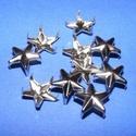 Fém szegecs (5. minta/1 db) - csillag, Csat, karika, zár, Mindenmás,  Fém szegecs (5. minta) - csillag - nikkel színben  Mérete: 12 mm  Az ár egy darab szegecsre vonatk..., Alkotók boltja
