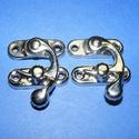 Doboz csat (5. minta/1 db) - ezüst, Csat, karika, zár, Mindenmás,  Doboz csat (5. minta) - ezüst színben  Mérete: 33x27 mm Az ár egy darab termékre vonatkozik. , Alkotók boltja