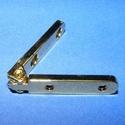 Zsanér (10. minta/1 db) - 31x6 mm, Csat, karika, zár, Mindenmás,   Zsanér (10. minta) - arany színben  A zsanér mérete: 31x6 mmA furat mérete: 2,5 mmA nyitási szög:..., Alkotók boltja