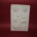 Egyéb-12 - gipszöntő forma (8 motívum) - csillagok, holdak, Szerszámok, eszközök, Egyéb szerszám, eszköz, Gipszöntés,        Egyéb-12 - gipszöntő forma - csillagok, holdak  - sablon: 18x29 cm- minta: 3-9 cm Az ár egy ..., Alkotók boltja