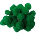 Pompom (Ø 25 mm/5 db) - zöld, Dekorációs kellékek, Figurák,  Pompom - zöld  Mérete: Ø 25 mm Többféle méretben.Az ár 5 db pompomra vonatkozik. , Alkotók boltja