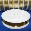 Ékszerdrót (Ø 0,4 mm/1 db) - arany színű, Drót, Fűzőszál,  Ékszerdrót - arany színű  Kiváló minőségű, fűzésre alkalmas ékszerdrót.  Méret: Ø 0,4 mmA tekercse..., Alkotók boltja