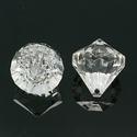 Akril gyöngy-49 (1 db) - átlátszó kristály, Gyöngy, ékszerkellék,    Akril gyöngy-49 - kristály forma - átlátszó  Mérete: 10 mmFurat mérete: 2 mm  Az ár 1 dar..., Alkotók boltja