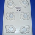 Állat-16 - gipszöntő forma (3x2 motívum) - 3D szalvétagyűrű, Szerszámok, eszközök, Egyéb szerszám, eszköz, Gipszöntés,         Állat-16 - gipszöntő forma - 3D szalvétagyűrű (vakond, cica, macik)   - sablon: 18x29 cm- m..., Alkotók boltja