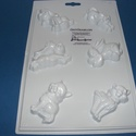 Állat-8 - gipszöntő forma (6 motívum) - kutyák, macskák, Szerszámok, eszközök, Egyéb szerszám, eszköz, Gipszöntés,         Állat-8 - gipszöntő forma - kutyák, macskák  - sablon: 18x29 cm- minta: 4-8 cm Az ár egy da..., Alkotók boltja