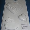 Szív-2 - gipszöntő forma (3 motívum/1 db), Szerszámok, eszközök, Egyéb szerszám, eszköz, Gipszöntés,        Szív-2 - gipszöntő forma   Mérete: - sablon: 18x29 cm- minta: 5-13 cm Az ár egy darab termék..., Alkotók boltja
