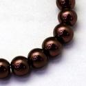Viaszgyöngy-45 (Ø 10 mm/15 db) - csokoládébarna, Gyöngy, ékszerkellék,  Viaszgyöngy-45 - csokoládébarna  Méret: Ø 14 mmFurat: 1 mm  A csomag tartalma: 15 db viaszgyö..., Alkotók boltja
